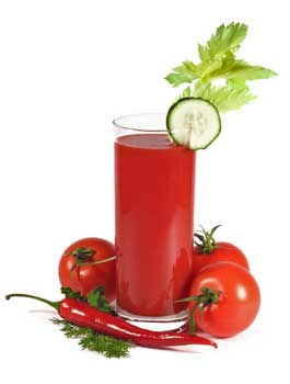 Juicing for health with tomato juice