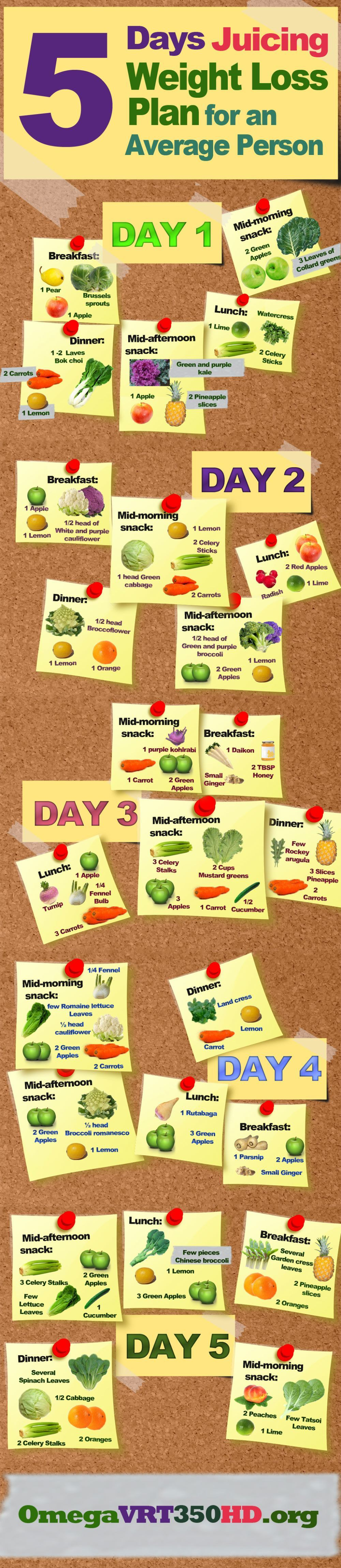Juicing Plan for Weight Loss Infographic