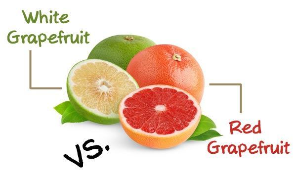 red grapefruits and white grapefruits