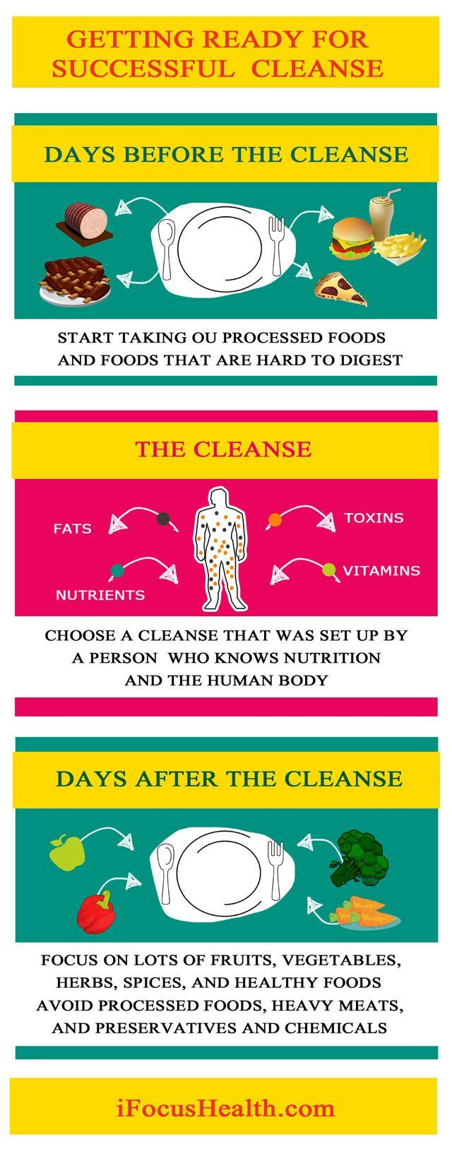 juice cleanse plan infographic