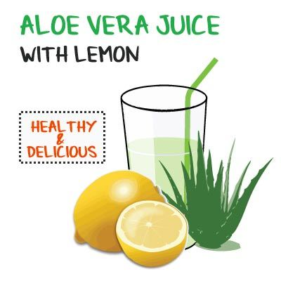 aloe vera juice recipe with lemon