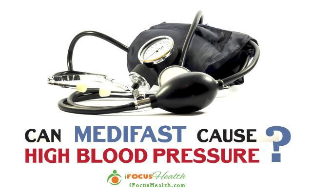 can medifast cause high blood pressure