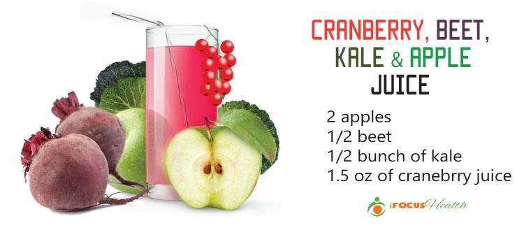 cranberry beet kale apple juice recipe