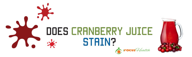 does cranberry juice stain