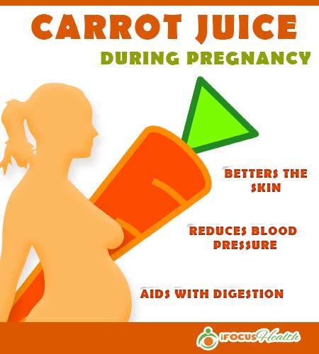 carrot juice benefits during pregnancy