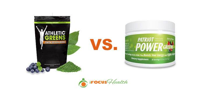 athletic greens vs patriot power greens