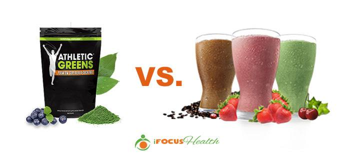 athletic greens vs shakeology