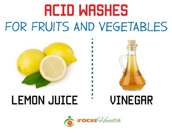 acid wash for fruits and vegetables