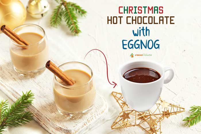 hot chocolate with eggnog
